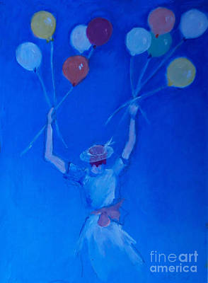 Painting - Ten Balloons by Diane Ursin