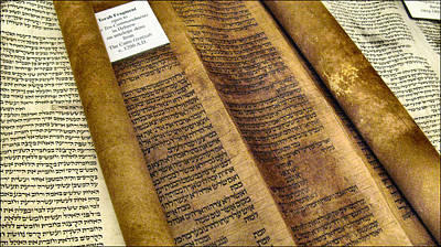 Photograph - Ten Commandments - Torah Fragment2 by Glenn Bautista