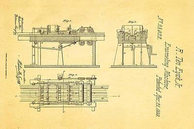 Ten Eyck Enameling Machine Patent Art 1860 Art Print by Ian Monk