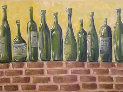 Ten Green Bottles Art Print