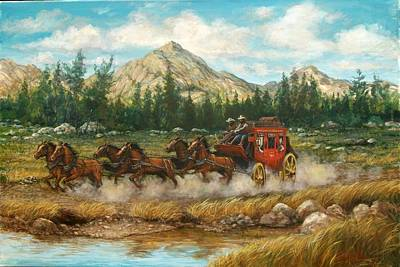 Painting - Ten Miles To Tucson by Perrys Fine Art