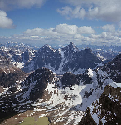 Photograph - T-703502-ten Peaks From Summit Of Mt. Lefroy by Ed  Cooper Photography