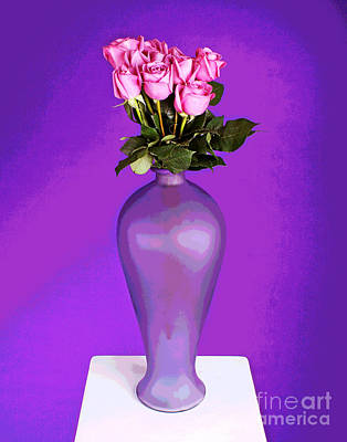 Photograph - Ten Pink Roses by Larry Oskin