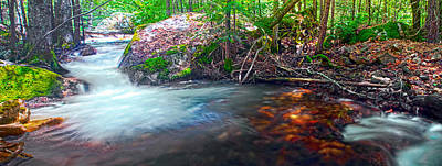 Photograph - Tenaya Creek Light And Shadow Panorama by Steven Barrows