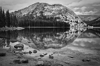 Tenaya Lake In Yosemite In Bw Art Print
