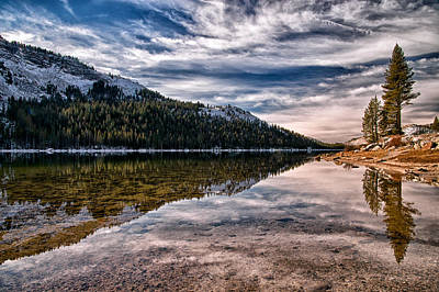 Mountians Photograph - Tenaya Lake Reflections by Cat Connor