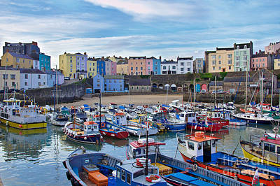 Photograph - Tenby Colours by Jeremy Hayden