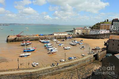 Photograph - Tenby Harbour At Low Tide by Paul Cowan