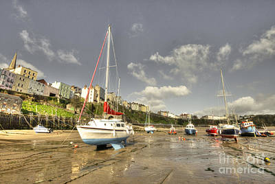 Tenby Photograph - Tenby Harbour Beach N Boats  by Rob Hawkins
