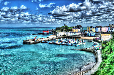 Photograph - Tenby Harbour Painterly by Steve Purnell