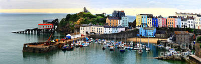 Photograph - Tenby Harbour Panorama by Jeremy Hayden