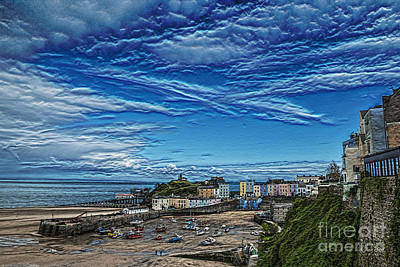 Photograph - Tenby Harbour Textured by Steve Purnell
