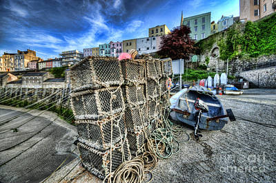 Photograph - Tenby Lobster Traps by Steve Purnell