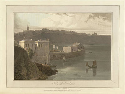 Tenby Port And Harbour In Pembrokeshire Art Print by British Library