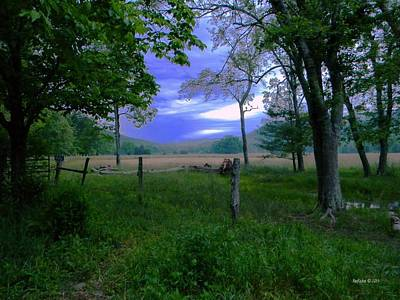 Cades Cove Painting - Tendar Morning by Roe Rader