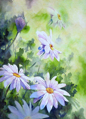 Floral Painting - Tender Daisies by Georgiana Romanovna