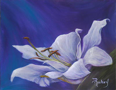 Painting - Tender Lily  by Suzie Richey