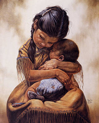 Indian Fine Art Painting - Tender Love by Gregory Perillo