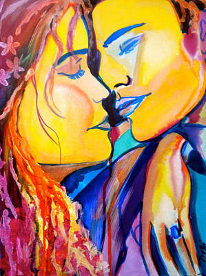Anniversary Ring Painting - Tender Moment by Debi Starr