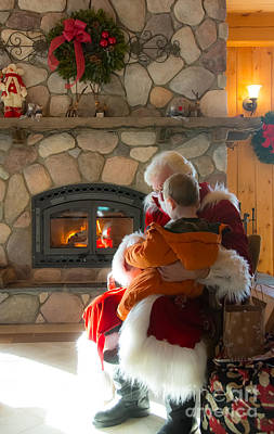 Photograph - Tender Moment With Santa by Cheryl Baxter