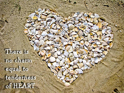 Photograph - Tenderness Of Heart - Seashells by Colleen Kammerer