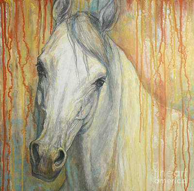 Horse Art Painting - Tenderness by Silvana Gabudean