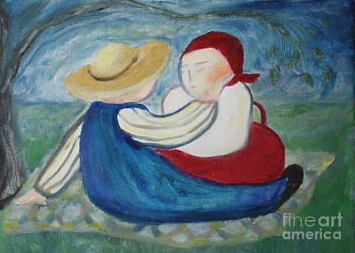 Tenderness Art Print by Teresa Hutto