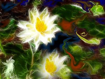 Meditative Digital Art - Tending Her Garden by Patricia Motley
