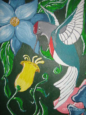 Art Print featuring the painting Tending The Garden by Wendy Coulson