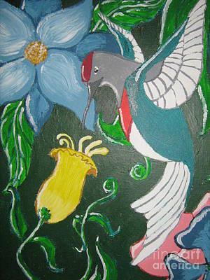 Tending The Garden Art Print by Wendy Coulson