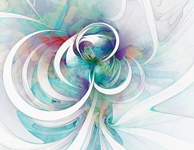 Purple Flowers Digital Art - Tendrils 03 by Amanda Moore