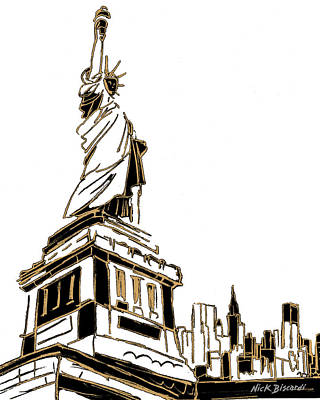 Tenement Digital Art - Tenement Liberty by Nicholas Biscardi