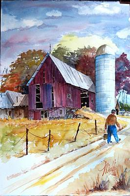 Painting - Tennesee Farm by Gerald Miraldi