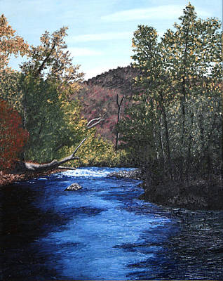 Tennessee A River Through The Woods Art Print by Beth Parrish