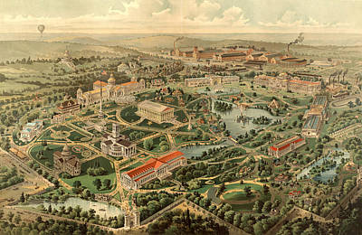 Tennessee Drawing - Tennessee Centennial Exposition, Nashville by Litz Collection