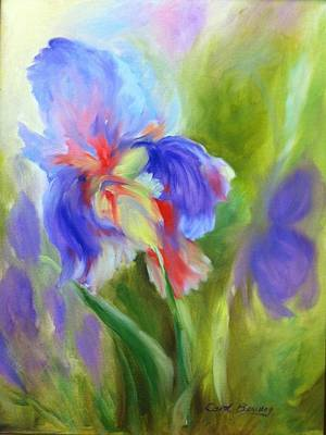 Art Print featuring the painting Tennessee Iris by Carol Berning
