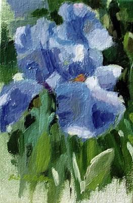 Painting - Tennessee Iris by Erin Rickelton