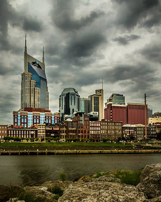 Tennessee - Nashville From Across The Cumberland River Art Print