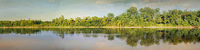 Tennessee River Reflections Panorama Art Print by Jai Johnson