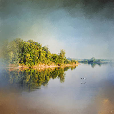 Tennessee River Reflections - Water Landscape Art Print by Jai Johnson