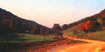 Art Print featuring the digital art Tennessee Road by Spyder Webb