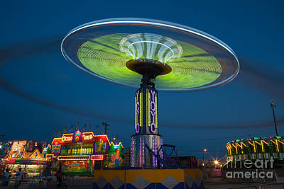 Photograph - Tennessee State Fair Rides At Night I by Clarence Holmes