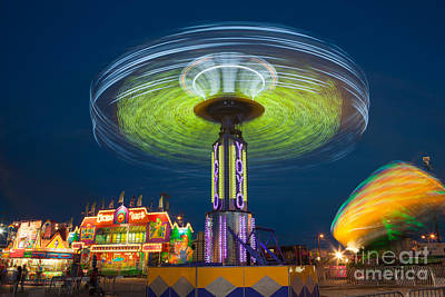 Photograph - Tennessee State Fair Rides At Night II by Clarence Holmes