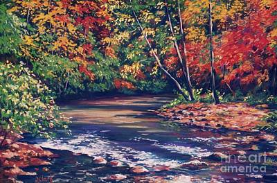 Knoxville Painting - Tennessee Stream In The Fall by John Clark