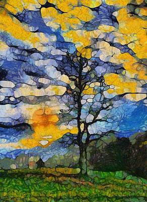 Great Mixed Media - Tennessee Sunrise by Dan Sproul