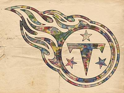 Tennessee Painting - Tennessee Titans Poster Art by Florian Rodarte