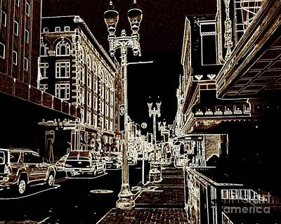 Digital Art - Tennessee Town Outlined by Angelia Hodges Clay