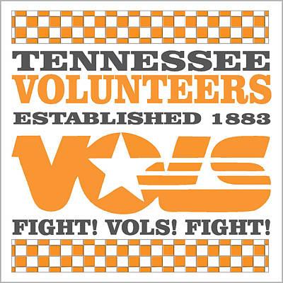 Tennessee Volunteers Fight Art Print by Debbie Karnes