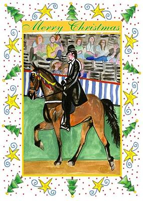 Tennessee Walking Horse Blank Christmas Card Art Print by Olde Time  Mercantile