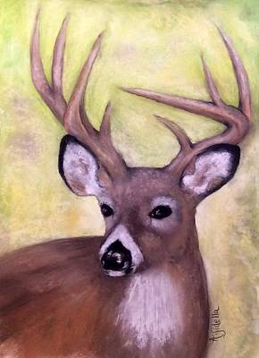 Painting - Tennessee Wild Life - Buck by Annamarie Sidella-Felts